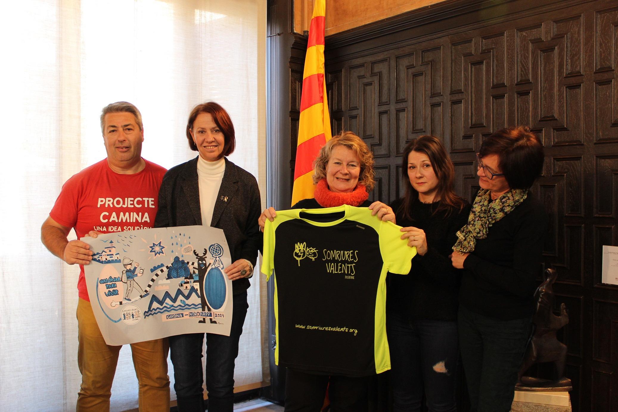 L'alcaldessa de Girona rep de nou l'impulsor del Projecte Camina.