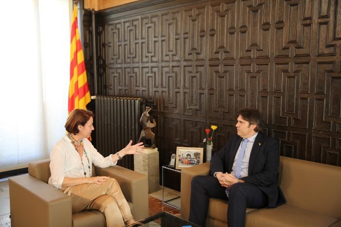 Imatge de la visita institucional