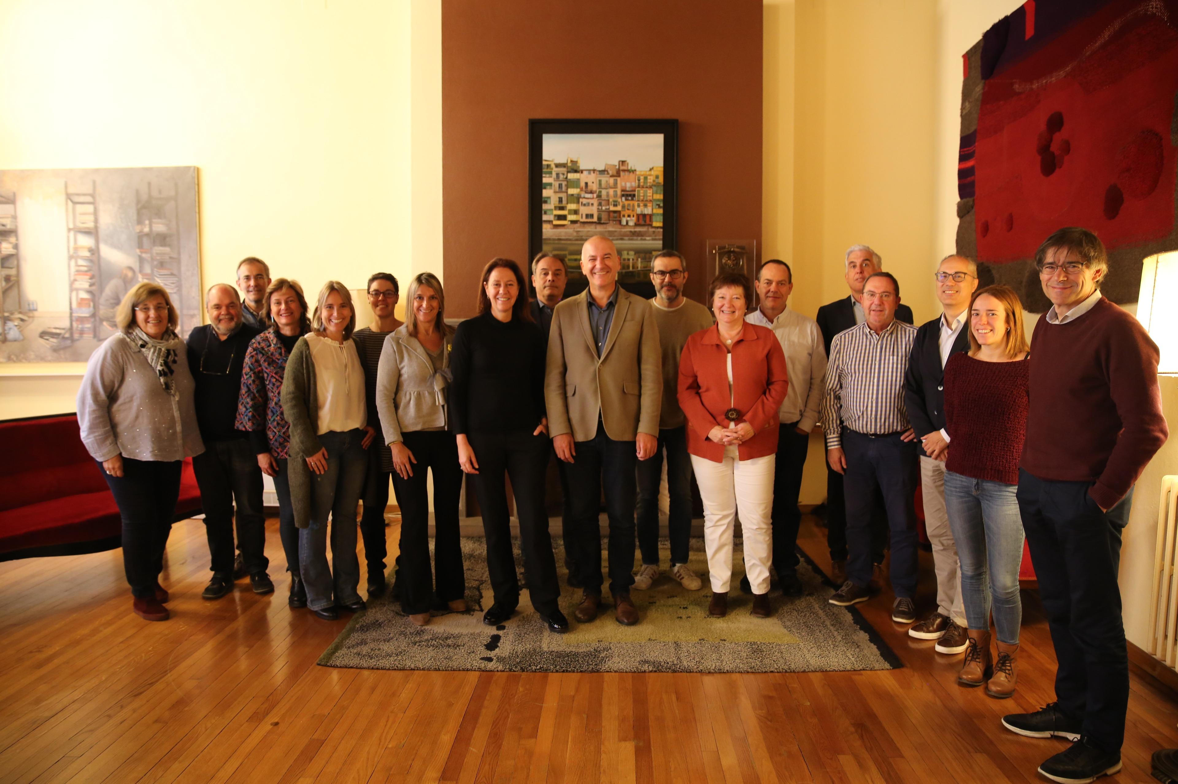 Trobada institucional entre l'Ajuntament de Girona i la Universitat de Girona