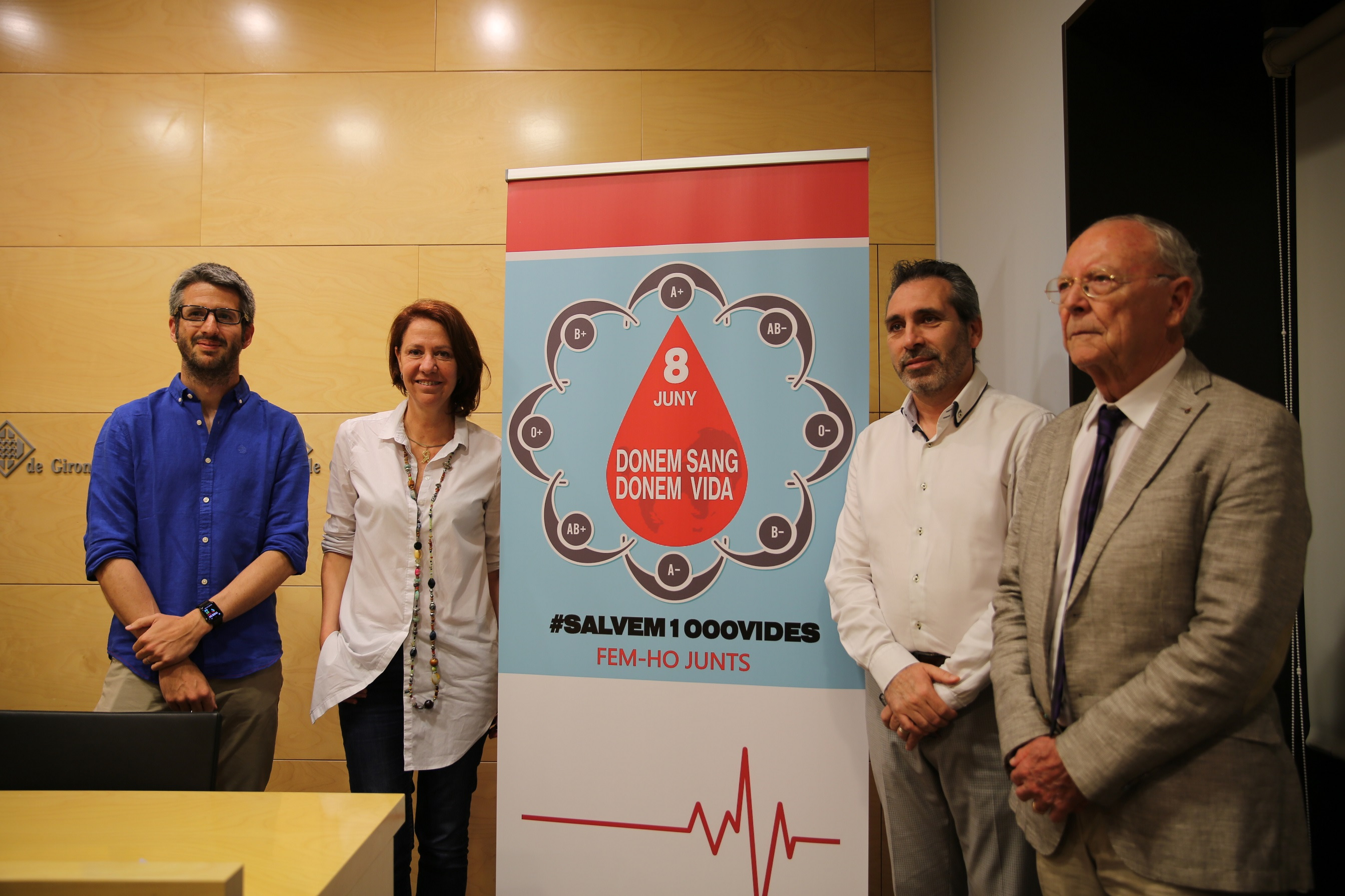 Marta Madrenas presenta la campanya especial de donació de sang del dissabte 8 de juny.