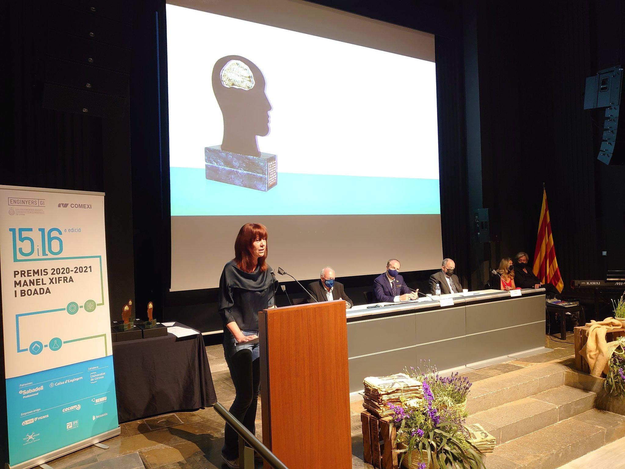 L'alcaldessa de Girona ha estat present als premis Manel Xifra i Boada