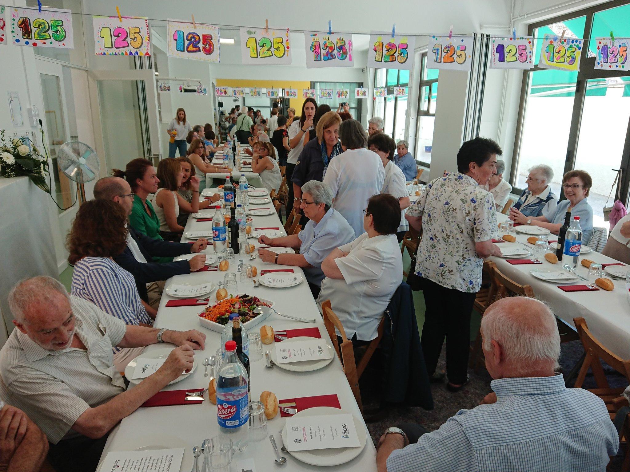 L'alcaldessa celebra el 125è aniversari de l'escola FEDAC Pont Major.
