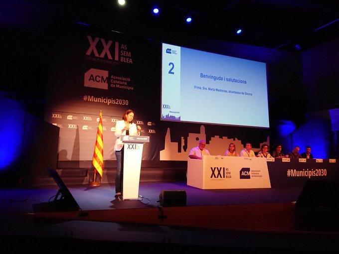 L'alcaldessa intervé en l'acte de benvinguda de l'Assemblea de l'Associació Catalana de Municipis a Girona.