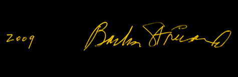 Barbra Streissand's signature (click to enlarge)
