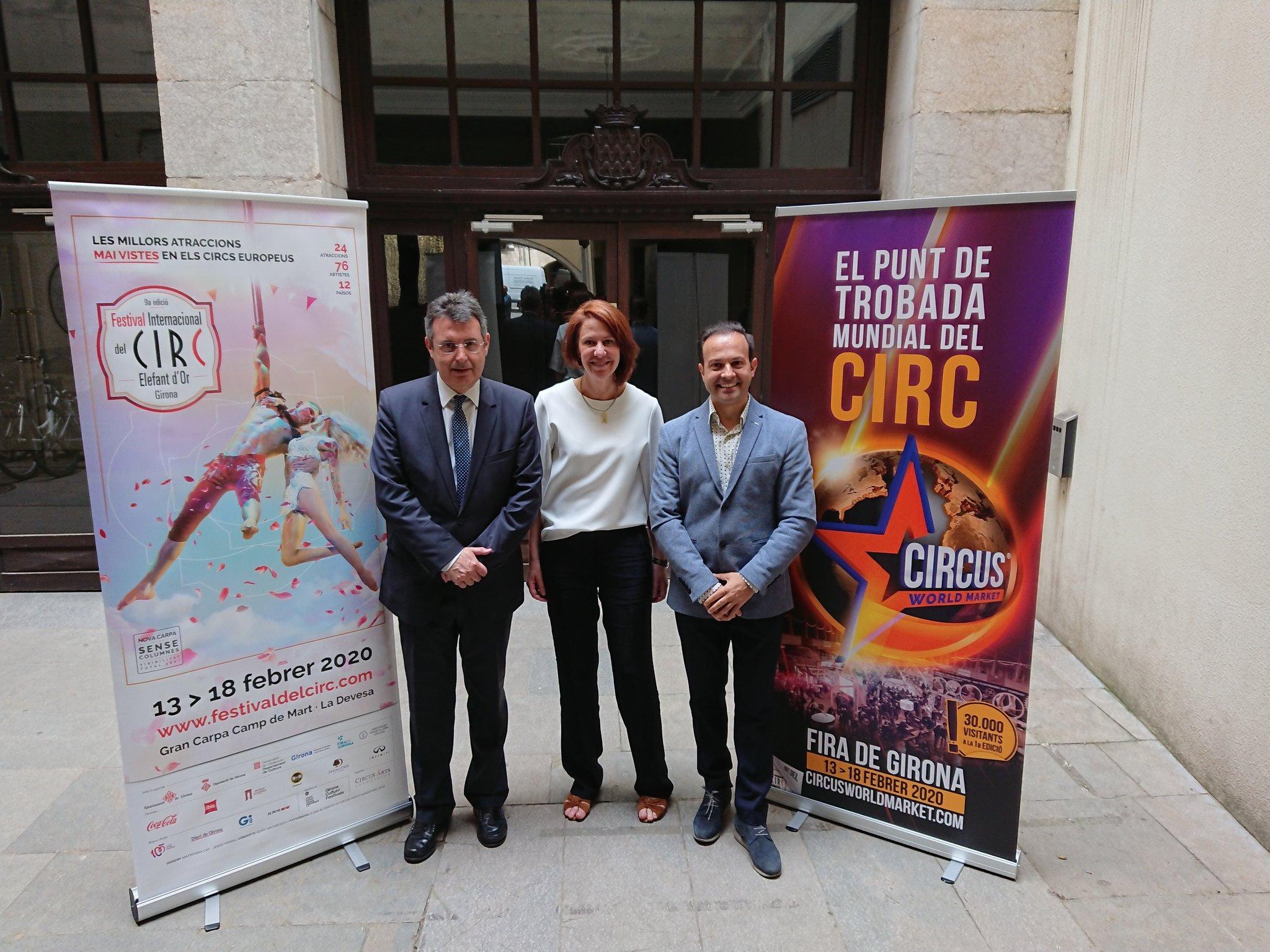 L'alcaldessa de Girona presenta l'edició 2020 del Festival Internacional de Circ Elefant d'Or