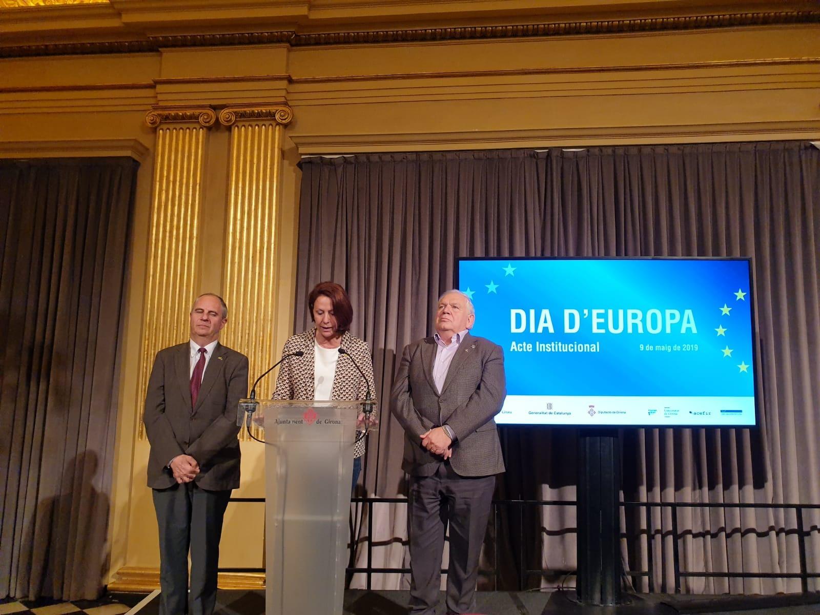 L'alcaldessa de Girona commemora el Dia d'Europa