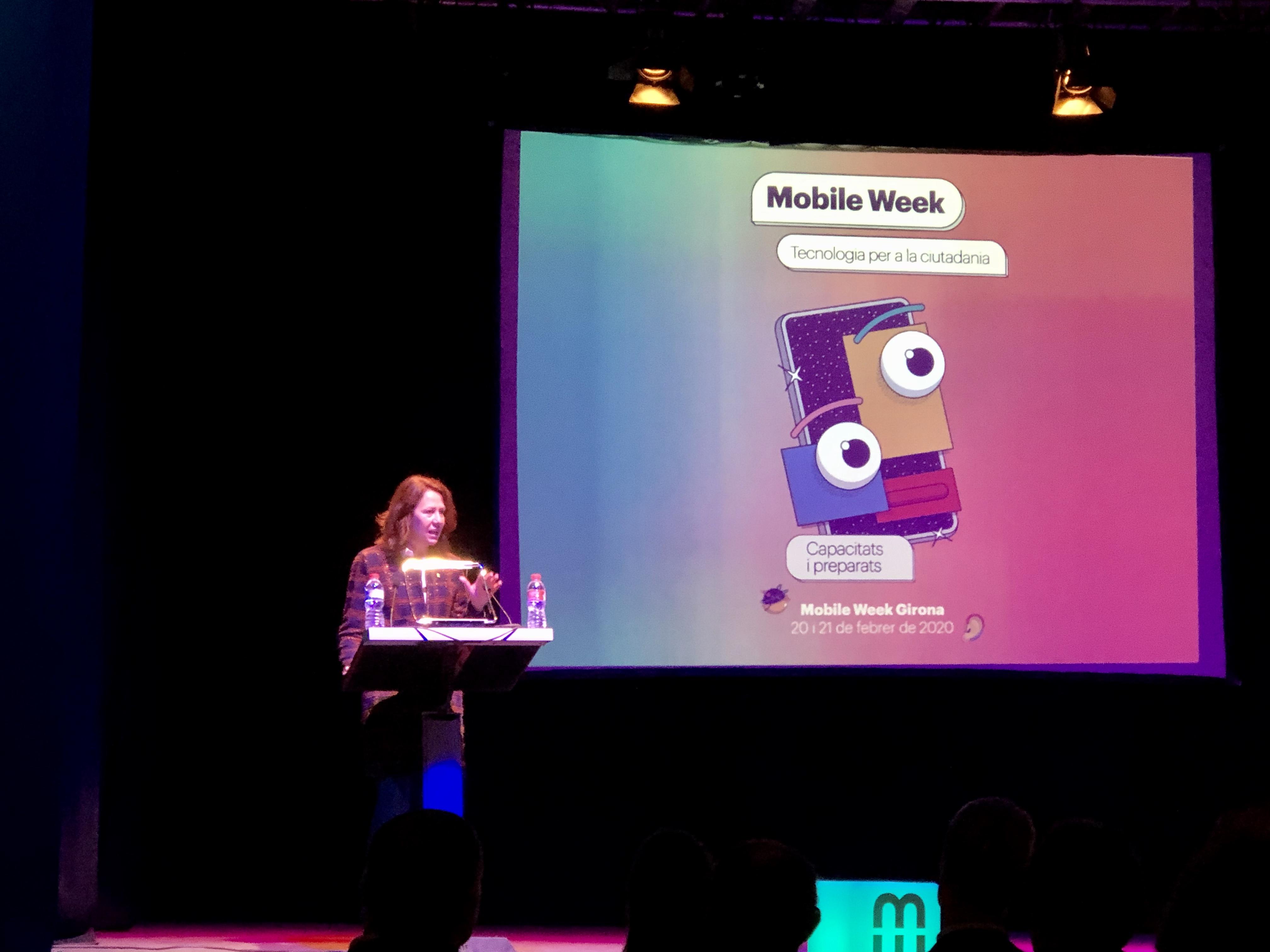 Marta Madrenas ha assistit a la inauguració del Mobile Week Girona 2020