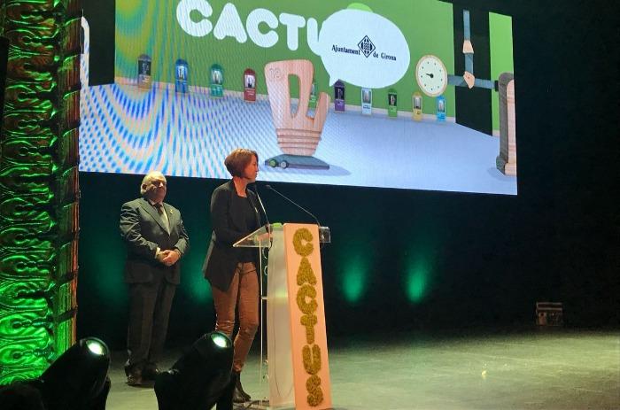 L'alcaldessa de Girona participa a l'entrega dels Premis Cactus 2018