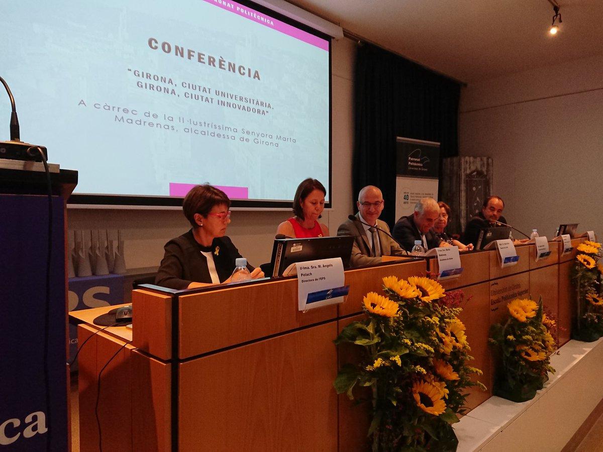 L'alcaldessa de Girona participa a la 23a edició dels premis Patronat de l'Escola Politècnica Superior.