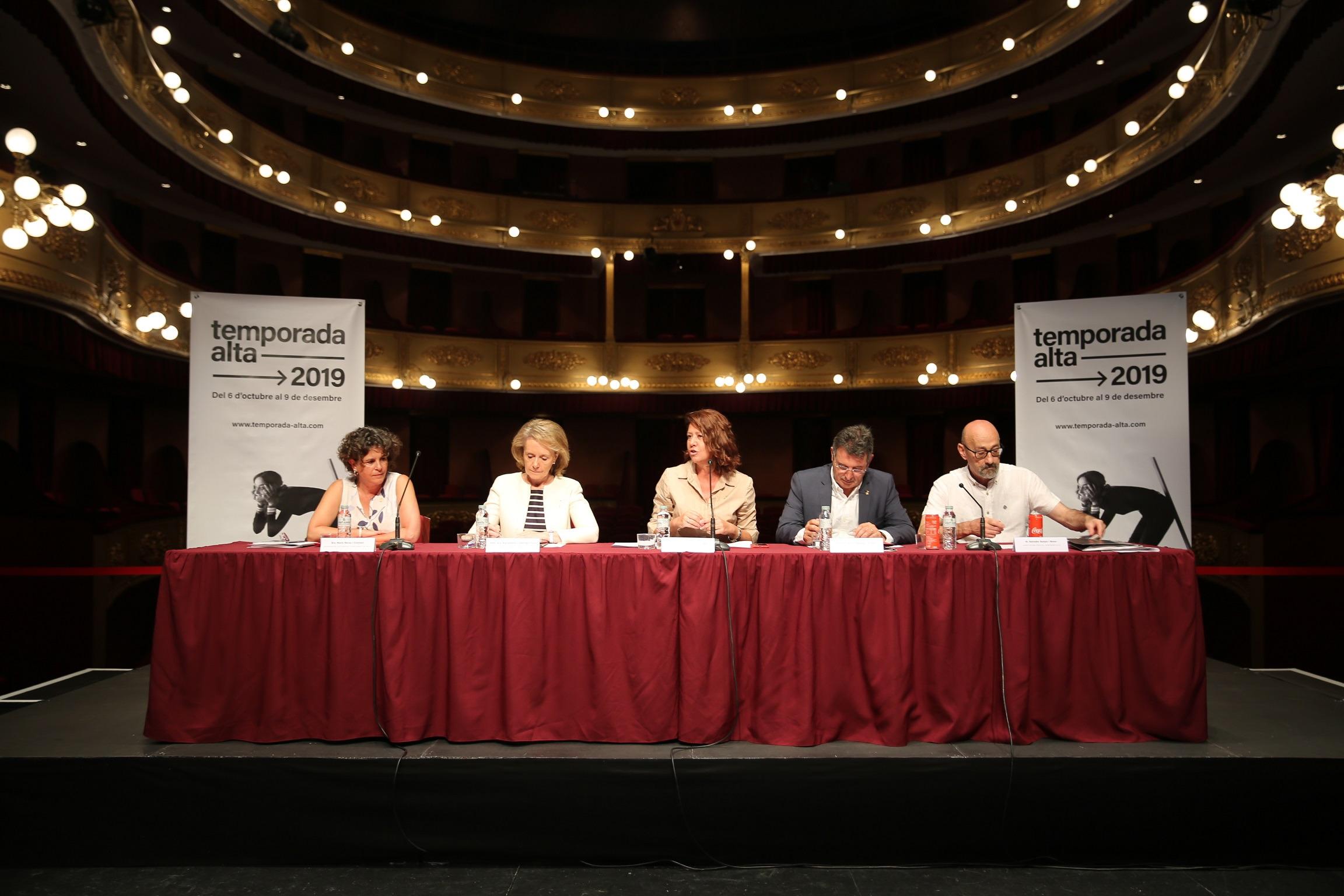 Marta Madrenas participa a la presentació de la 28a edició del Temporada Alta.