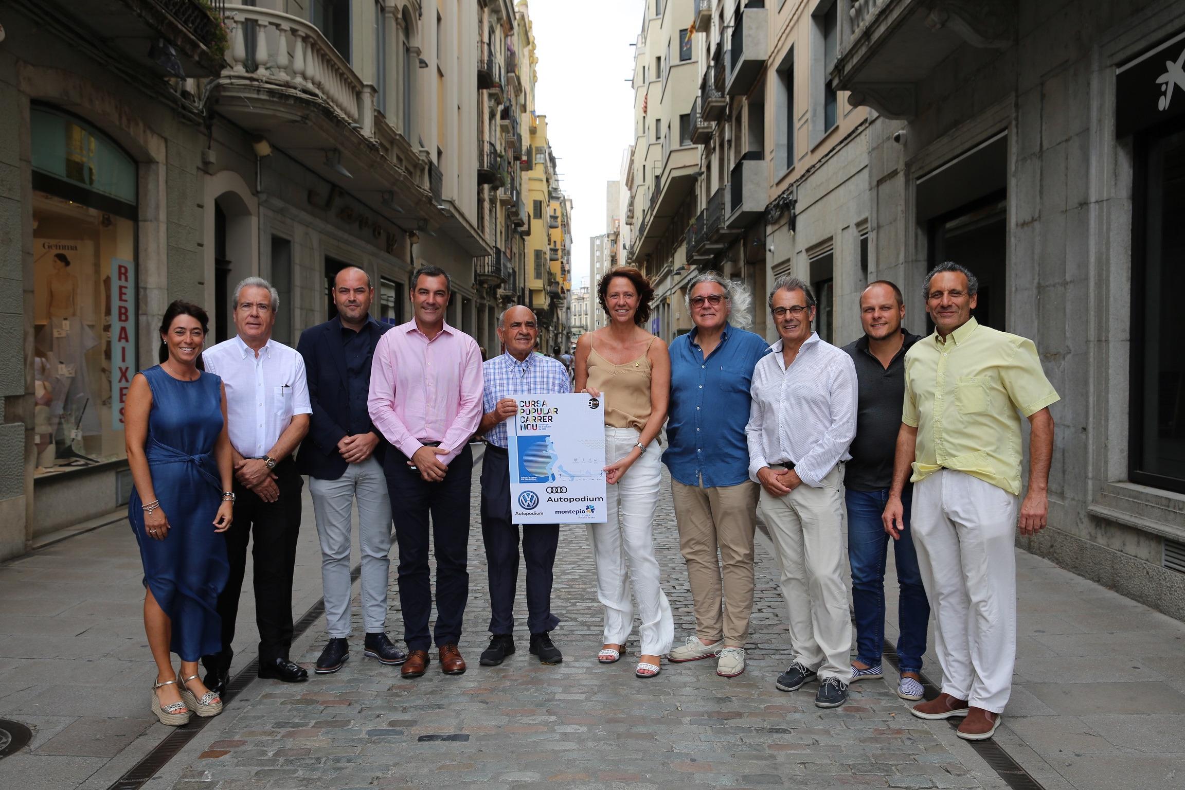 L'alcaldessa de Girona, Marta Madrenas, presenta la Cursa del Carrer Nou.