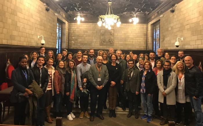 Marta Madrenas rep els assistents del XIII Congrés Internacional d'Investigació en Relacions Públiques