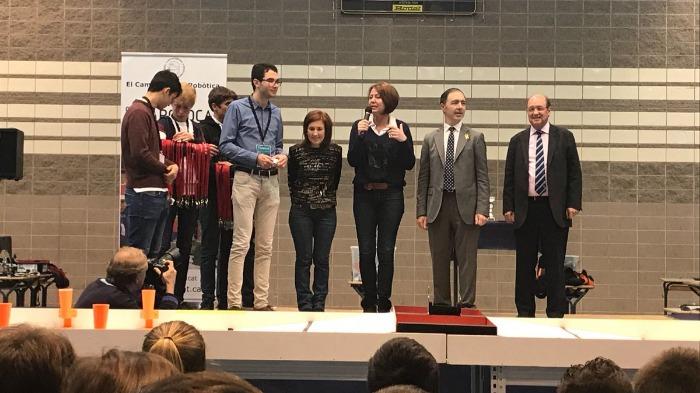 L'alcaldessa de Girona, Marta Madrenas, participa a l'entrega de premis de la final gironina de la tercera edició de la RoboCAT