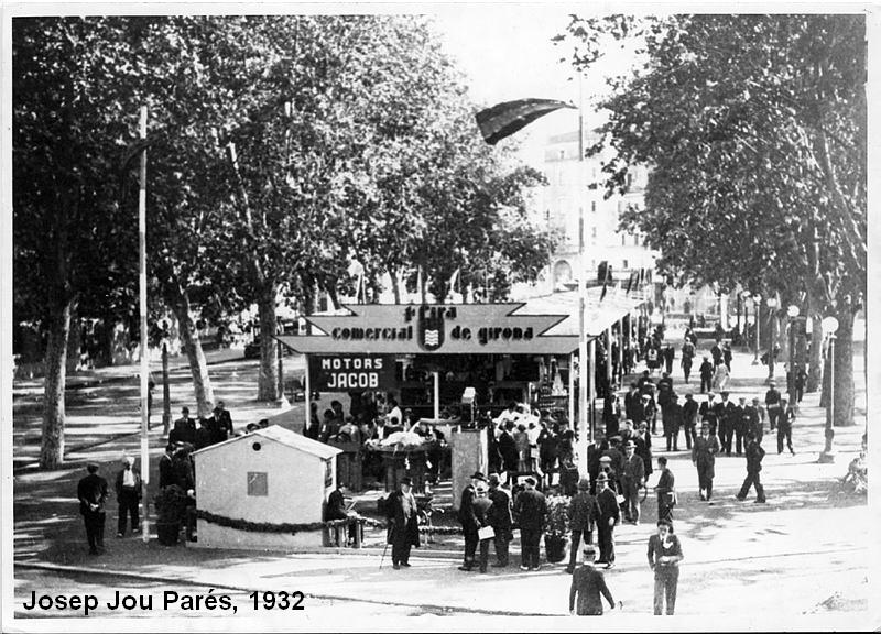 Josep Jou Parés. Primera Fira Comercial a l'Avinguda Ramon Folch. 1932.