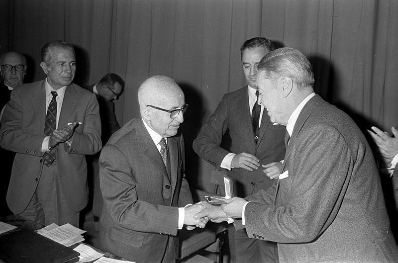 Narcís Sans i Prat. Homenatge al senyor Bastons. 05/12/1970.