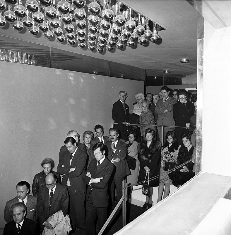 Narcís Sans i Prat. Inauguració del Banco de Gerona. 10/11/1972.